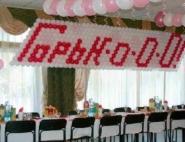 Оформление воздушными шарами свадьбы