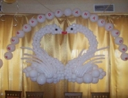 Оформление свадебного зала шарами